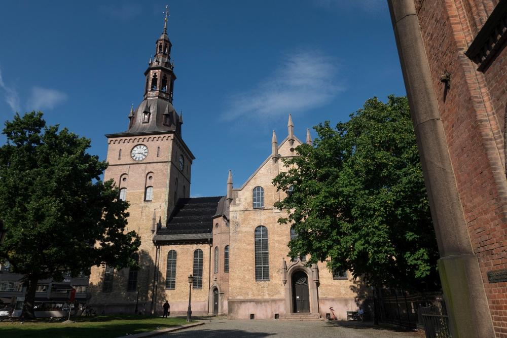 Domkirche auf der Karl Johans Gate in Oslo in Norwegen