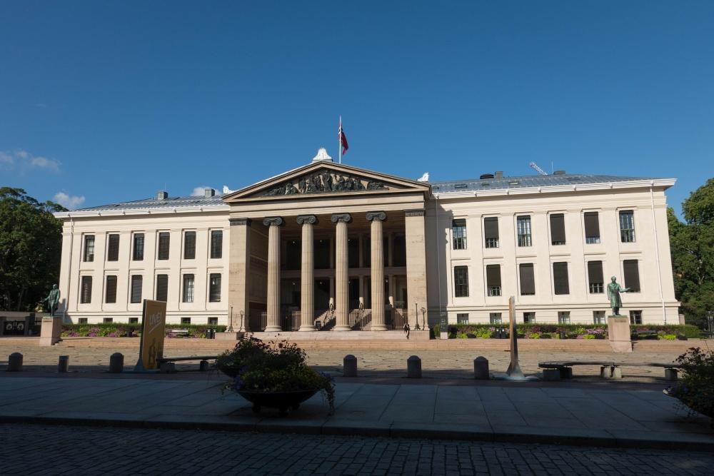 Universität an der Karl Johans Gate in Oslo in Norwegen