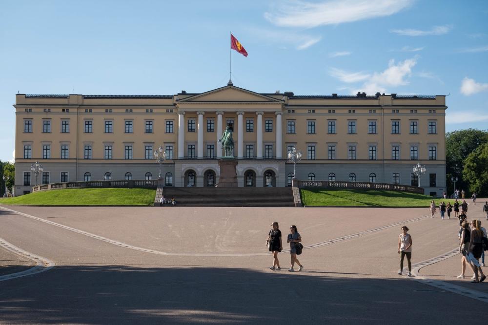 Slottet an der Karl Johans Gate in Oslo in Norwegen