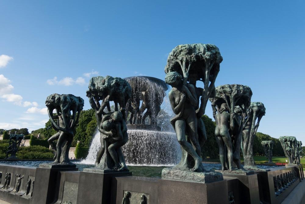 Vigelandsparken in Oslo in Norwegen