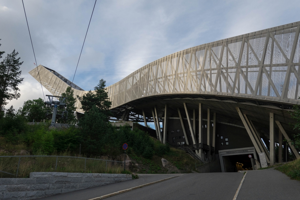 Skisprungschanze auf dem Holmenkollen in Oslo in Norwegen