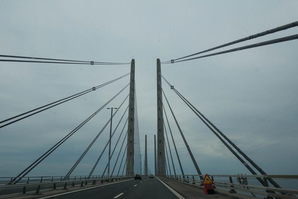 Öresundbrücke von Malmö in Schweden nach Kopenhagen in Dänemark