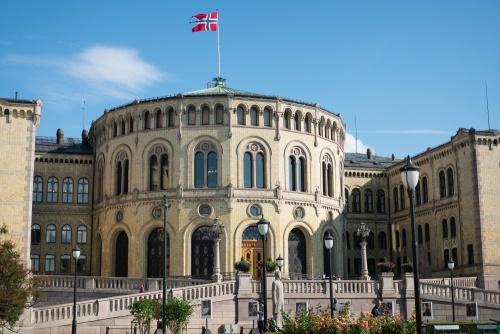 Stortinget in Oslo in Norwegen
