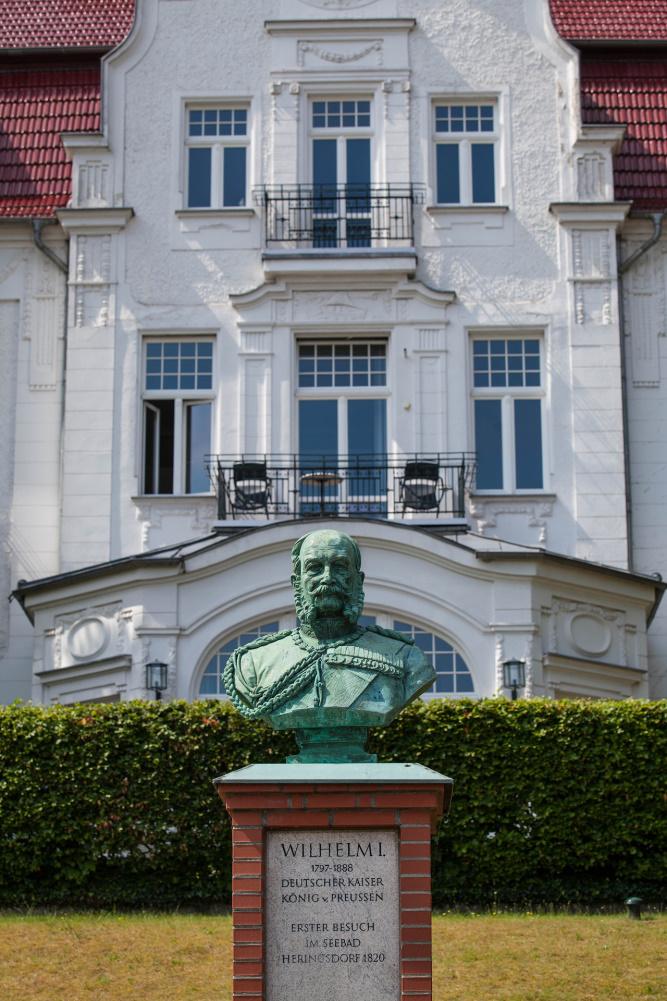 Büste Kaiser Wilhelm in Heringsdorf / Insel Usedom