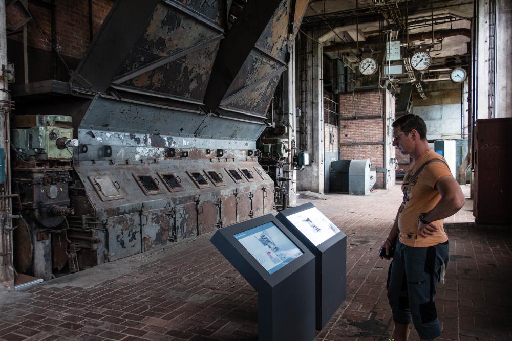 Innenraum des ehemaligen Kraftwerk der Heeresversuchsanstalt Peenemünde / Insel Usedom