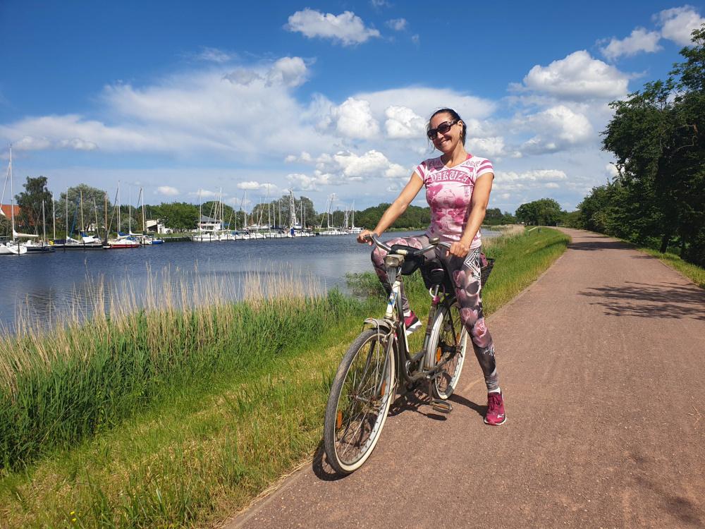 mit dem Fahrrad von Wieck nach Greifswald