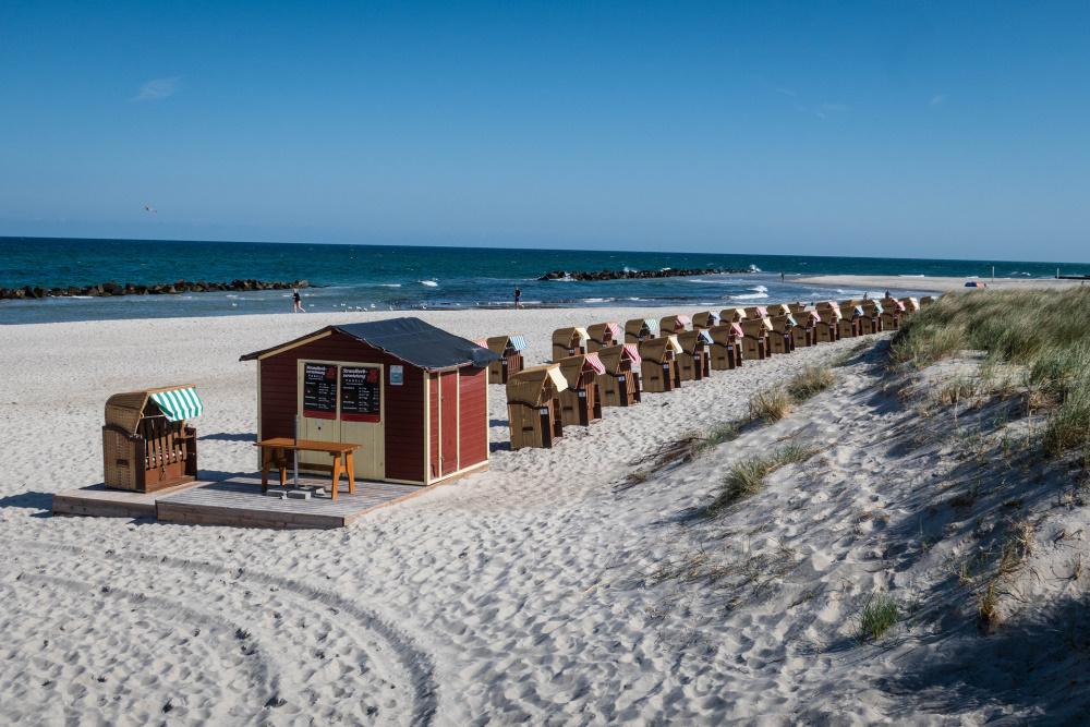 Strandabschnitt an der Ostsee in Wustrow