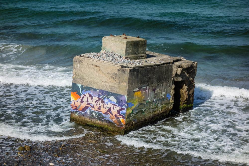 Reste von Überwachungstürmen der DDR auf Fischland-Darß-Zingst