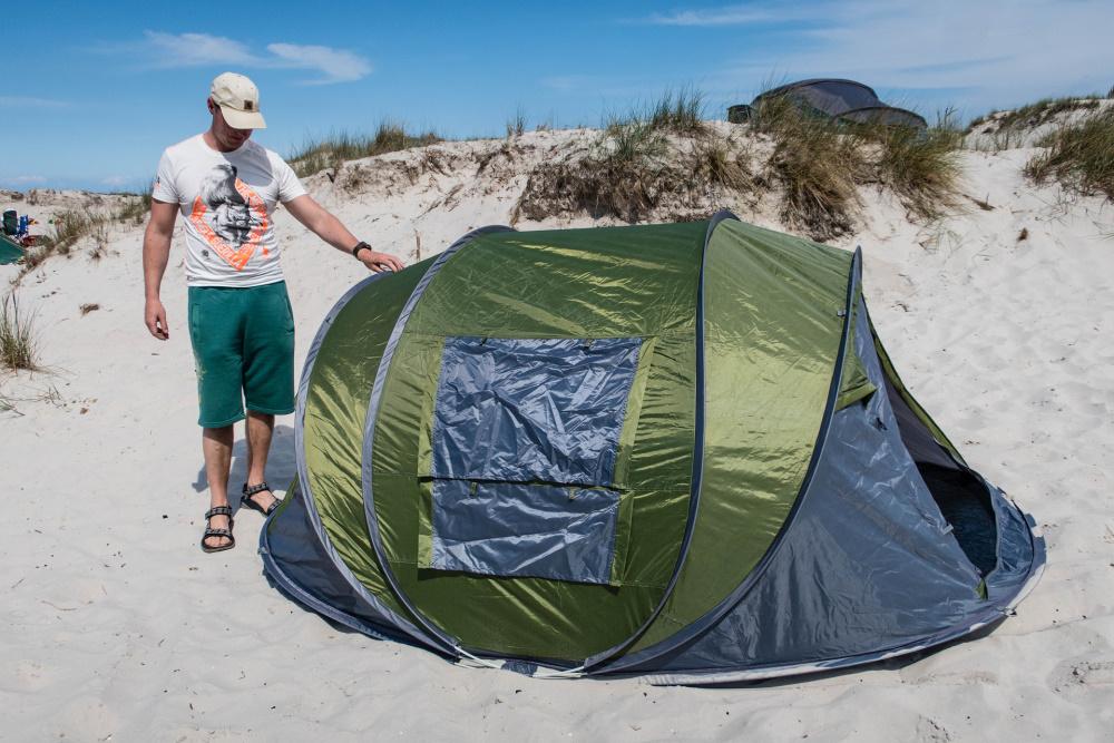Zelt in den Dünen bei Prerow / Darß