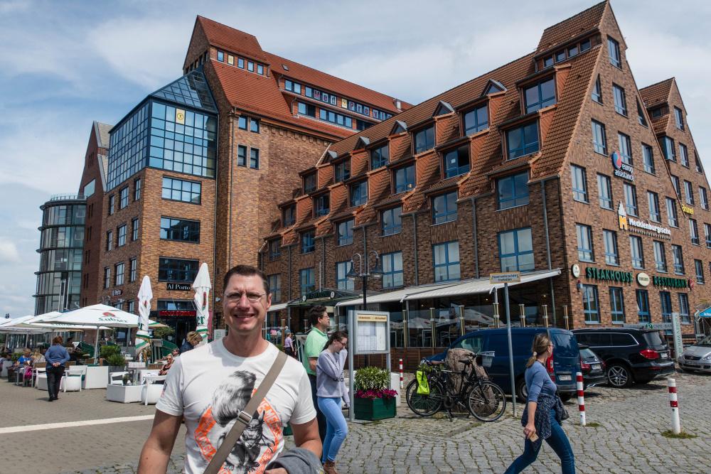 Backsteinspeicher im Hafen von Rostock