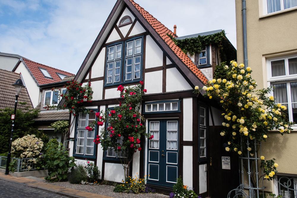 Kapitänshaus auf der Alexandrinenstraße in Warnemünde