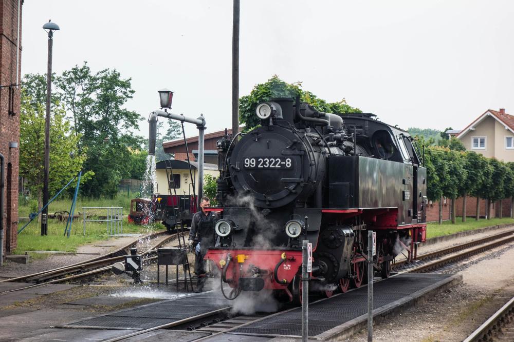 die Schmallspurbahn im Molli-Bahnhof Kühlungsborn