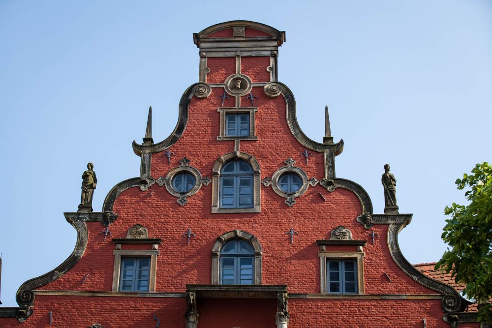 Giebel des Schabbellhauses in Wismar