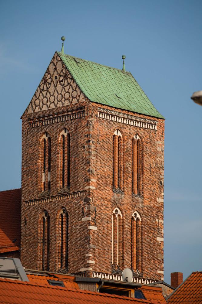 Turm der Heiligen-Geist-Kirche in Wismar