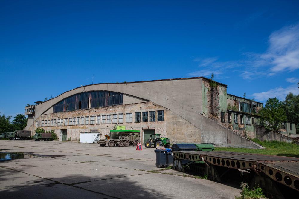 Hangar im Technikmuseum Pütnitz