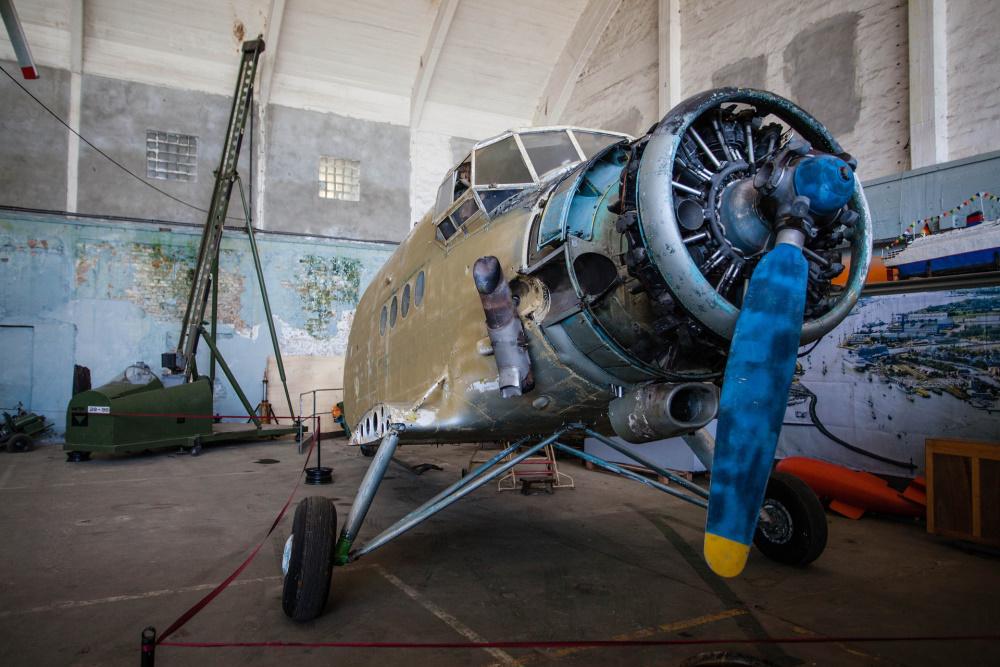 Flugzeug-Halle im Technikmuseum Pütnitz