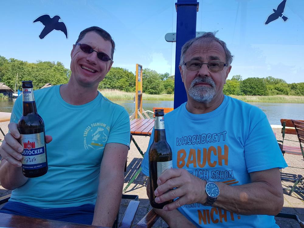 Abschieds-Bier in Prerow / Darß